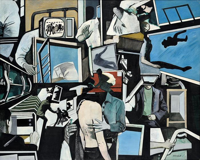 「沈黙と冥想のための時間」1969年 カンバス・油彩 181.1×227.2cm