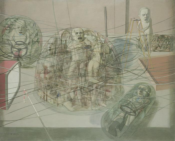 「透過する風景」1984年 カンバス・油彩 130.3×162.2cm