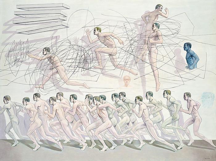 「零地点からの再生のための出発」2006年 カンバス・油彩 194×259cm
